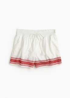 J.Crew Embroidered pull-on short