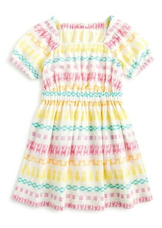 J.Crew Embroidered Square Neck Dress (Toddler Girls, Little Girls & Big Girls)