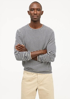 J.Crew Everyday cashmere crewneck sweater in navy stripe