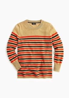 J.Crew Everyday cashmere striped crewneck sweater