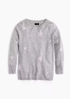 Everyday cashmere sweater in kaleidoscope star print