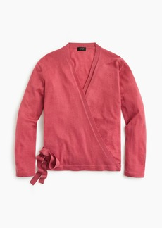 J.Crew Everyday cashmere wrap cardigan sweater
