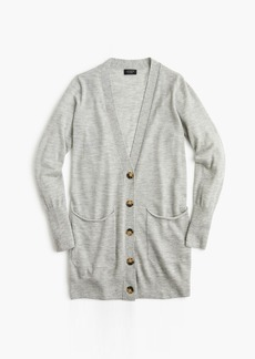 J.Crew Everyday featherweight cashmere oversized cardigan sweater