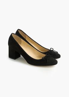 J.Crew Evie ballet heel in black suede