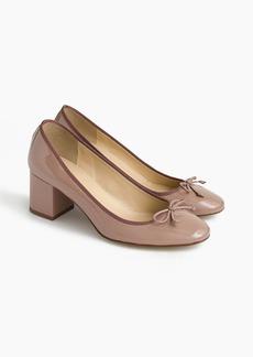 J.Crew Evie ballet heel in patent leather