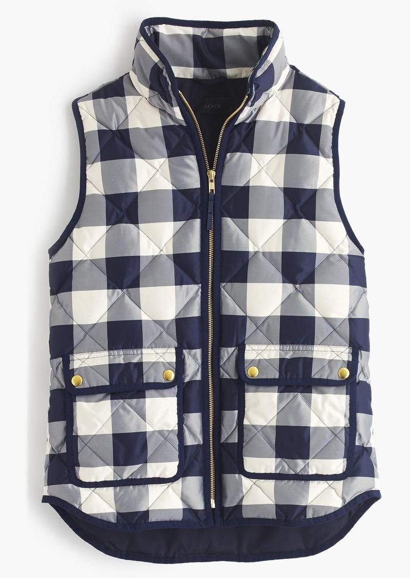 J.Crew Excursion quilted vest in buffalo check
