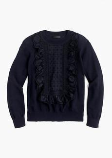 J.Crew Eyelet sweater in summerweight cotton