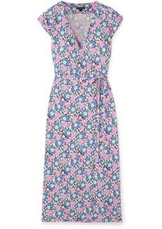 J.Crew Fabrizia Floral-print Jersey Wrap Dress