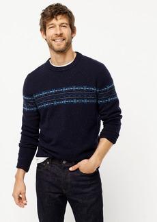 J.Crew Fair Isle donegal crewneck sweater