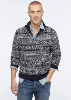 J.Crew Fair Isle lambswool half-zip sweater