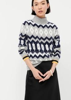 J.Crew Fair Isle mockneck sweater in supersoft yarn