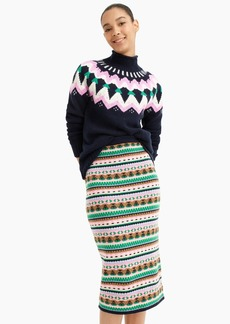 J.Crew Fair Isle sweater tube skirt