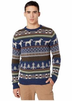 J.Crew Fair Isle Wool Crewneck Sweater in Dog Pattern