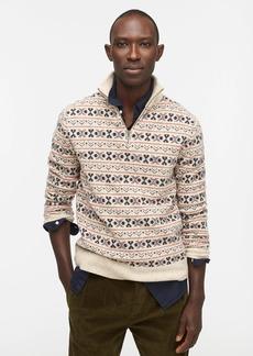 J.Crew Fair Isle wool-merino blend donegal half-zip sweater