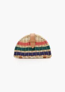 J.Crew Fan rattan clutch in stripe