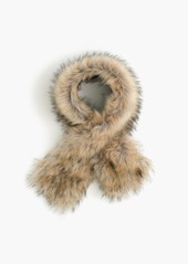 J.Crew Faux-fur stole with Black Watch lining