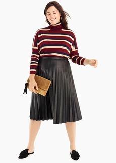 J.Crew Faux-leather pleated midi skirt