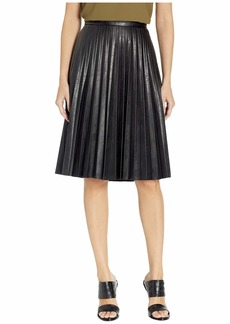 J.Crew Faux-Leather Pleated Midi Skirt