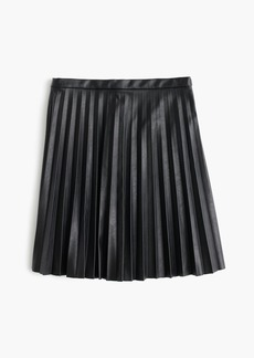 J.Crew Petite faux-leather pleated mini skirt | Skirts - Shop It To Me