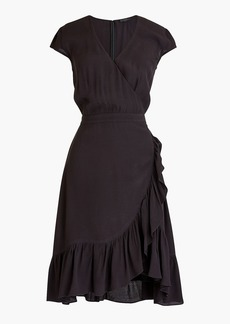 J.Crew Faux-wrap mini dress in drapey crepe