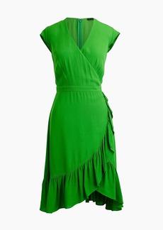 J.Crew Faux-wrap mini dress in drapey crepe