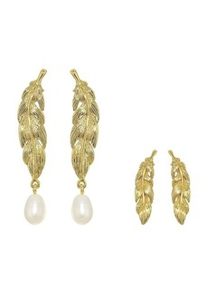J.Crew Feather and Pearl Set