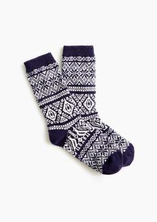 J.Crew Festive Fair Isle trouser socks