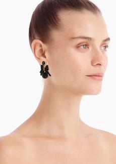 J.Crew Festive pavé drop bow earrings