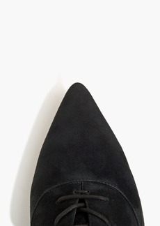 J.Crew Fiona lace-up kitten heel ankle boots in black suede