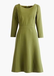 J.Crew Fit and flare sheath dress in stretch ponte