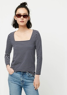 J.Crew Square-neck T-shirt in stripe