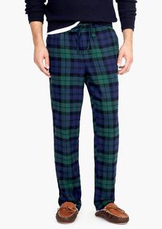 J.Crew Flannel pajama pant in Black Watch tartan