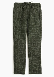 J.Crew Flannel pajama pant in log party