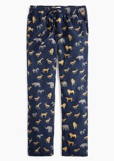 J.Crew Flannel pajama pant in safari animal print