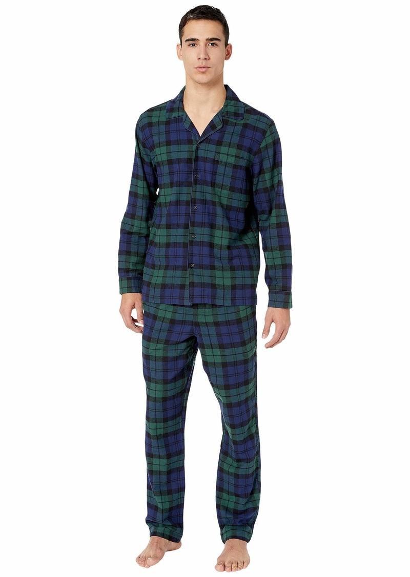 J.Crew Flannel Pajama Set in Black Watch Tartan
