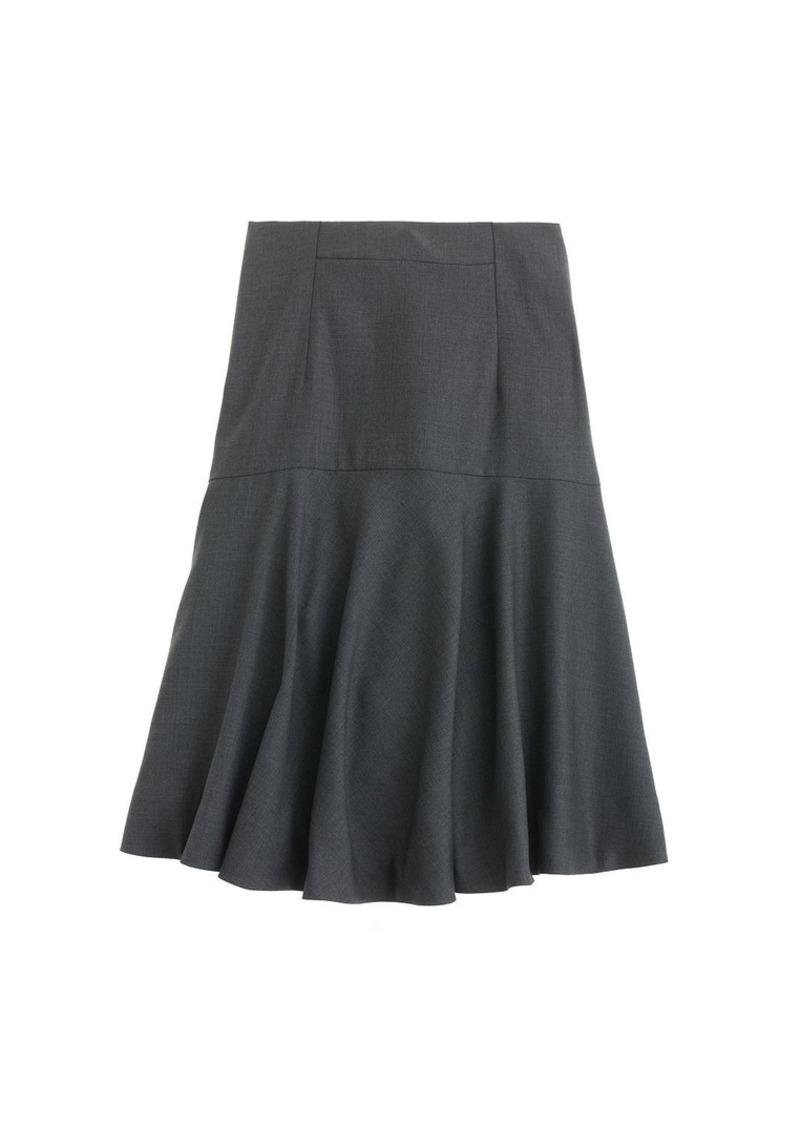 J.Crew Flare skirt in Super 120s wool