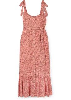 J.Crew Floral-print Voile Midi Dress