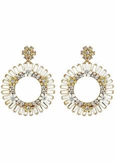 J.Crew Flower Crystal Statement Earrings