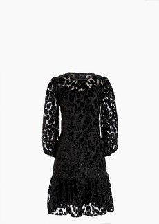 J.Crew Flutter-hem dress in burnout velvet leopard