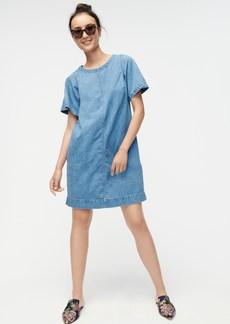 J.Crew Short-sleeve denim mini dress