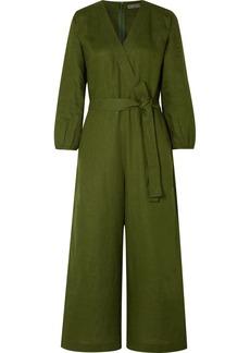 J.Crew Fontana Belted Wrap-effect Linen Jumpsuit