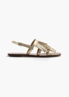 J.Crew Fringe slingback sandals