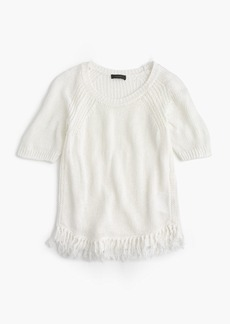 J.Crew Fringy sweater