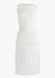 J.Crew Fringy tweed sheath dress