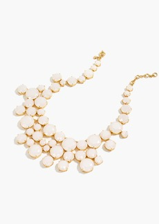 J.Crew Frosted crystal collar necklace