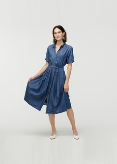 J.Crew Full-skirt chambray shirtdress in Cotton and TENCEL™ lyocell