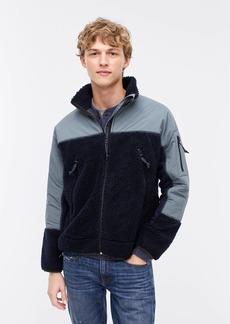 J.Crew Nordic full-zip sherpa fleece jacket