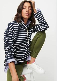 J.Crew Funnelneck pullover in striped Mariner cloth