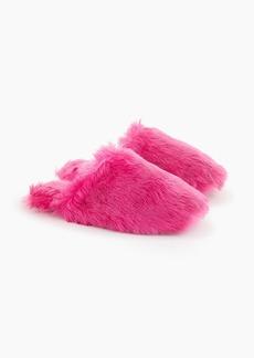 J.Crew Fuzzy slippers