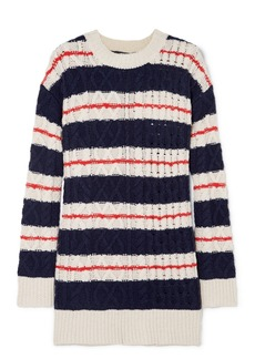 J.Crew Gabby Striped Cable-knit Merino Wool-blend Sweater